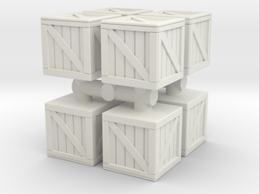 Wood crate prop (x8) 1/87 in White Natural Versatile Plastic