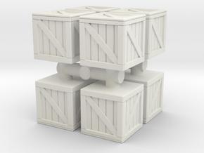 Wood crate prop (x8) 1/220 in White Natural Versatile Plastic