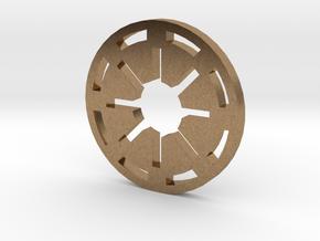 Galactic Republic Symbol Blade Plug Insert in Natural Brass