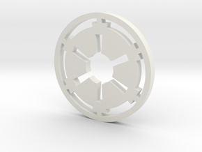 Galactic Empire Symbol in White Natural Versatile Plastic
