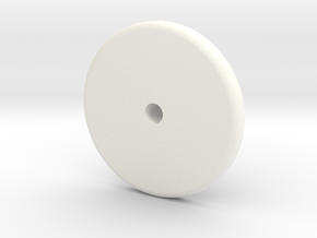 Translation Control Button Holder 1:1 Matt in White Processed Versatile Plastic