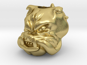 Bulldog - Paracord Bead resized to 6mm in Natural Brass