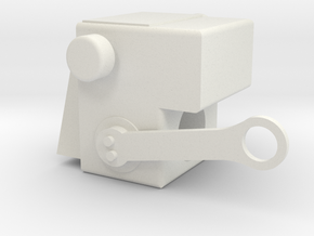 Rotation Support Bracket in White Natural Versatile Plastic