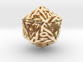 Helix d20 Mini in 14k Gold Plated Brass