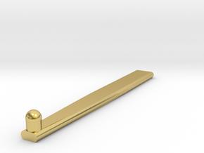 Ham Key Lock in Polished Brass