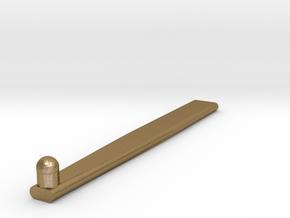 Ham Key Lock in Polished Gold Steel