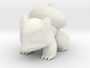 Bulbasaur Desk Figurine - STL FILE in White Natural Versatile Plastic