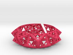Sierpinski Bracelet in Pink Processed Versatile Plastic