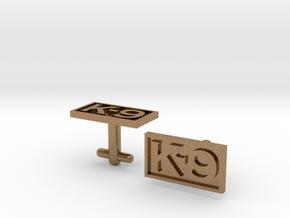 K-9 Cufflinks Silver, Brass, or Gold in Raw Brass