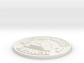 Galaxy's #1 Father Memorial Coin Father's Day Gift in White Natural Versatile Plastic
