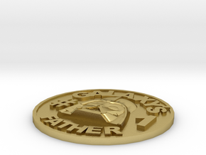 Galaxy's #1 Father Memorial Coin Father's Day Gift in Natural Brass