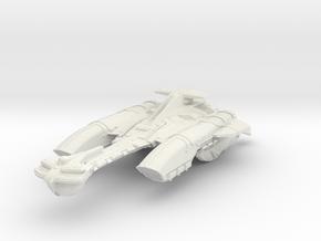"Klingon N'Par Class AssaultCruiser 4.2"" in White Natural Versatile Plastic"