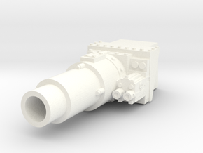 28mm Invader tank short gun - for new turret in White Processed Versatile Plastic
