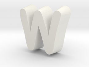 Letterbowl M in White Natural Versatile Plastic