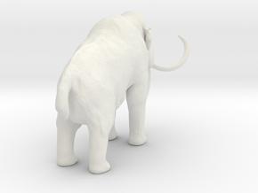 1-72 Woolly Mammoth H in White Natural Versatile Plastic