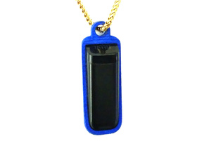Pendant or Keychain Holder for Fitbit Flex in Blue Processed Versatile Plastic