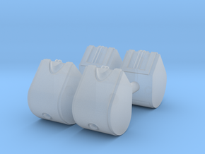 1/87th Set of Four 31.5 gallon DEF Urea Tanks  in Smooth Fine Detail Plastic