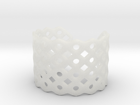 Circles & Squares Cuff (Size M) in Smooth Fine Detail Plastic
