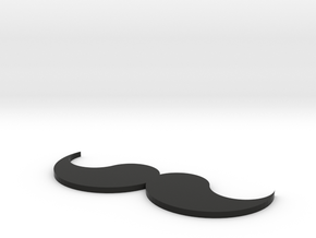 [1DAY_1CAD] MUSTACHE_type1 in Black Natural Versatile Plastic