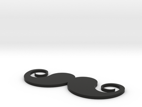 [1DAY_1CAD] MUSTACHE_type2 in Black Natural Versatile Plastic