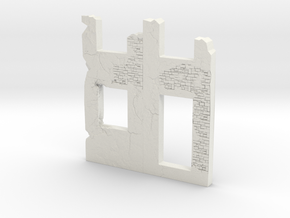 Building wall ruins 1/120 in White Natural Versatile Plastic