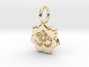 tiny om lotus in 14K Yellow Gold