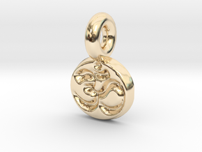 tiny om in 14K Yellow Gold