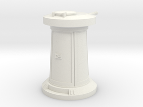 TURRET 12CM in White Natural Versatile Plastic