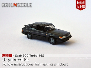 Saab 900 Turbo 16S (British N 1:148) in Smooth Fine Detail Plastic