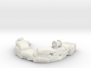 Sandbag Emplacement 1/24 in White Natural Versatile Plastic