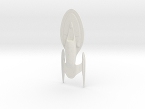 Intrepid Class Refit - 15cm in White Natural Versatile Plastic
