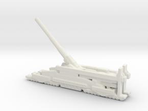 Schwerer Gustav railway artillery 80cm aa 3cm  in White Natural Versatile Plastic