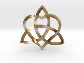 """Infinity Love Pendant   Twisted 1"""" in Polished Gold Steel"""