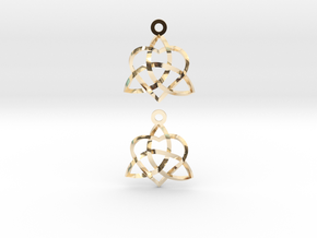 Infinity Love Earrings-Twisted in 14K Yellow Gold