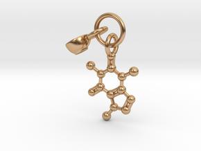 Caffeine Charm Pendant in Polished Bronze (Interlocking Parts)