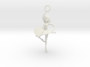 Cute Cosplay Charm - Dancer  in White Natural Versatile Plastic