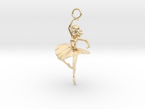 Cute Cosplay Charm - Dancer  in 14k Gold Plated Brass