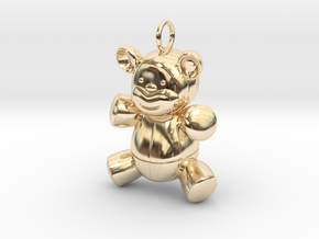 Cute Cosplay Charm - Teddy Bear in 14k Gold Plated Brass