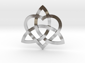 "Infinity Love pendant-1.5"" in Natural Silver"