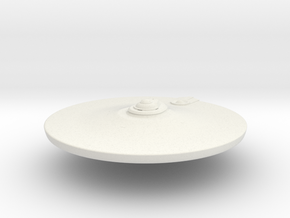 2500 TMP Saucer refit main deflector & neck in White Natural Versatile Plastic
