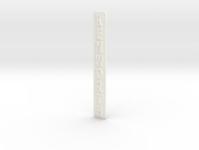 KW-strip in White Processed Versatile Plastic