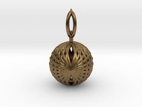 Wire Globe Pendant  in Natural Bronze
