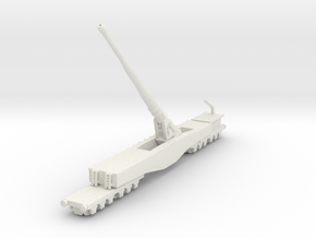 Krupp K5 28cm Leopold railway artillery 1/200 in White Natural Versatile Plastic