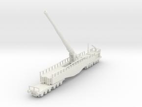 Krupp K5 28cm Leopold railway artillery 1/160  in White Natural Versatile Plastic