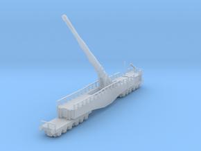 Krupp K5 28cm Leopold railway artillery 1/160  in Smooth Fine Detail Plastic
