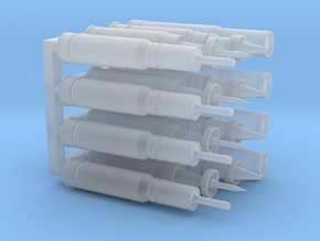 1/72 120mm Rounds x16 in Smooth Fine Detail Plastic