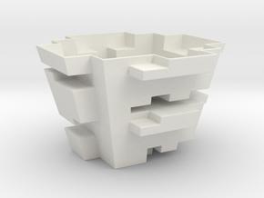 A Blocky Planter in White Natural Versatile Plastic