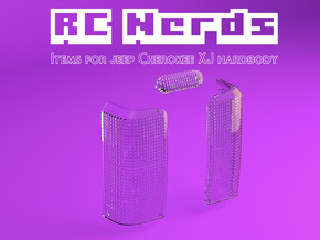 RCN218 Rear lenses for Tailgate Jeep XJ in Smooth Fine Detail Plastic