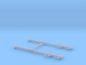 CATENARY PRR 2 TRACK 2-2 PHASE N SCALE  in Smooth Fine Detail Plastic