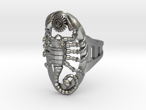 Mech Scorpion Ring Size 13 in Natural Silver